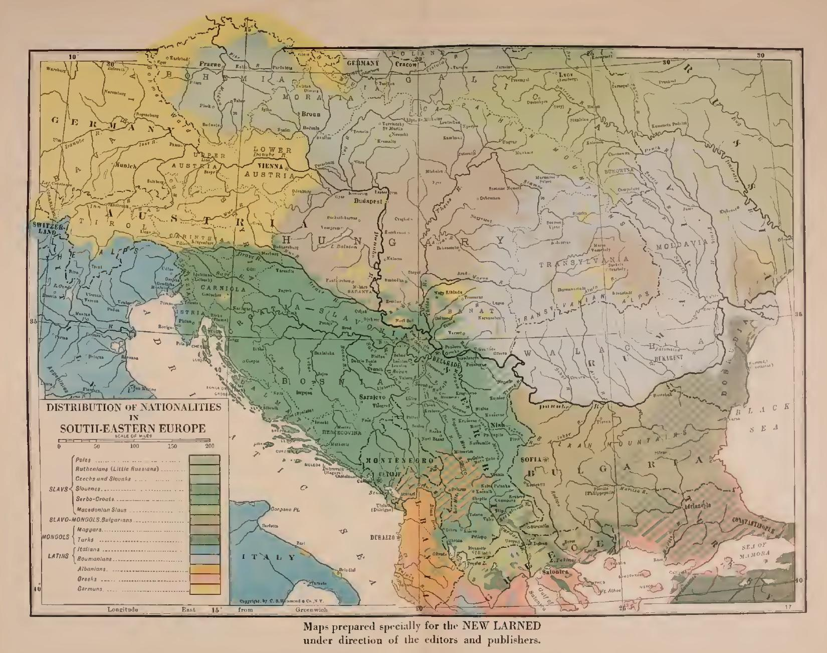 Macedonian Truth Organisation Macedonians noted on a map of the ...